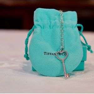Sterling silver Tiffany and co key necklace